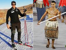 Halfnaakte vlaggendrager uit Tonga haalt Spelen als langlaufer