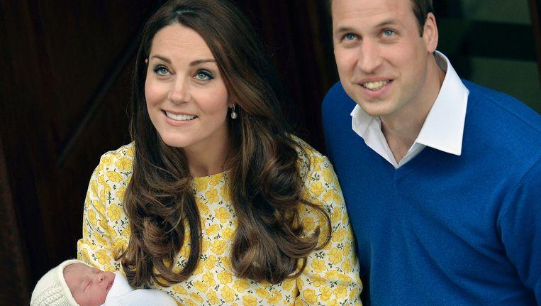 Prins William en Kate met hun dochter Beeld AP