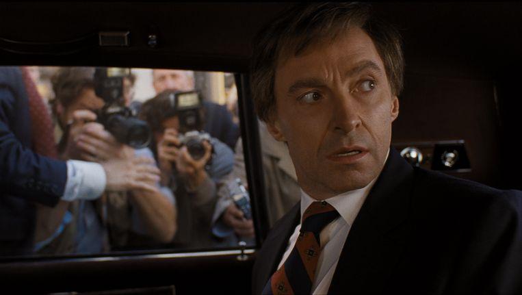 Hugh Jackman als Gary Hart in The Front Runner. Beeld