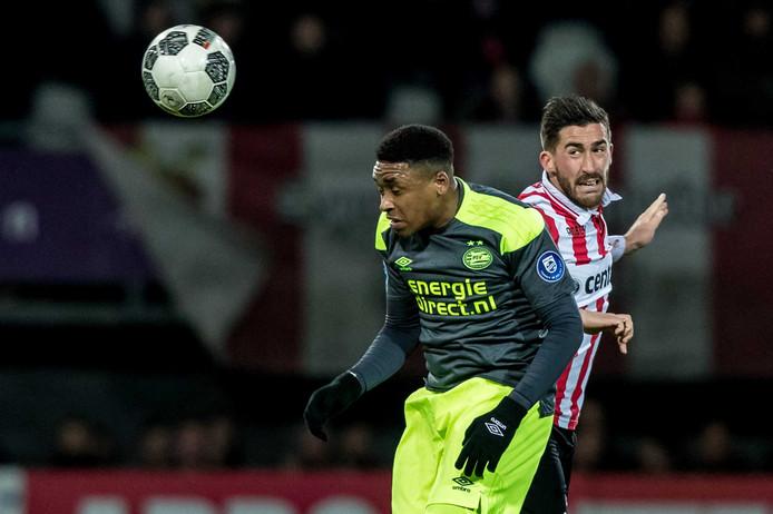 Steven Bergwijn scoorde afgelopen weekend twee keer tegen Sparta.