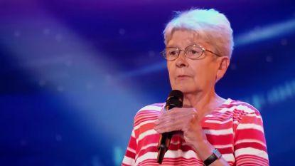 VIDEO. Rappende oma uit 'Belgium's Got Talent' wil nieuwe Tante Kaat worden en geeft al rappend huishoudtips
