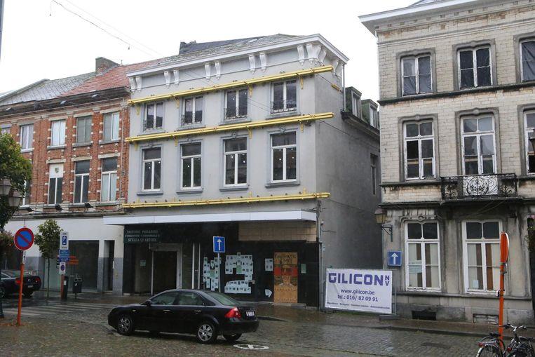 Eén van de leegstaande handelspanden in Tienen. Er zijn er zo 58.