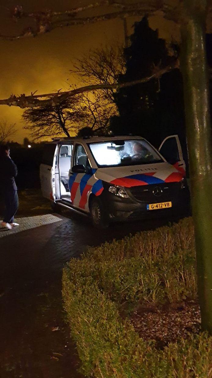 De politie was er snel om één van de inbrekers in te rekenen.