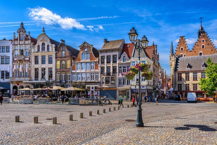 De Grote Markt in Mechelen.