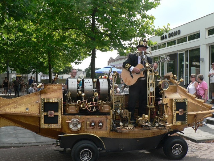 Een optreden in steampunk thema.