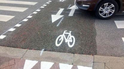 Overstekende fietsers doen het zonder wettelijke grond: markeringen staan niet in verkeersreglement