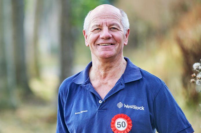 André Pigmans vierde maandag zijn gouden jubileum bij WestRock in Oss, drukker van medische bijsluiters.