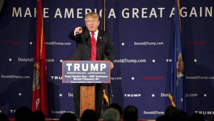 Trump tijdens een recente toespraak.