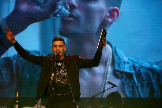 Rapper Boef tijdens de uitreiking van de XITE Awards 2017 in de Melkweg.