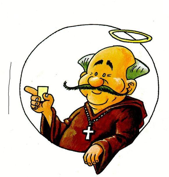 Het logo van het Sint-Antoniusbier van Luc Dierckx