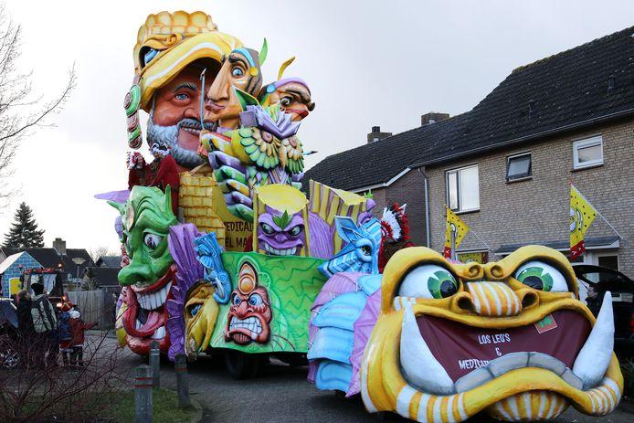 Deelnemers aan de Waspikse carnavalsoptocht in 2018.