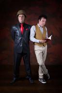 Toine Rongen (l) en Cesar Moerman in hun theatervoorstelling 'Onze vriendschap dat ben ik' die in september in De Schuur in première gaat.