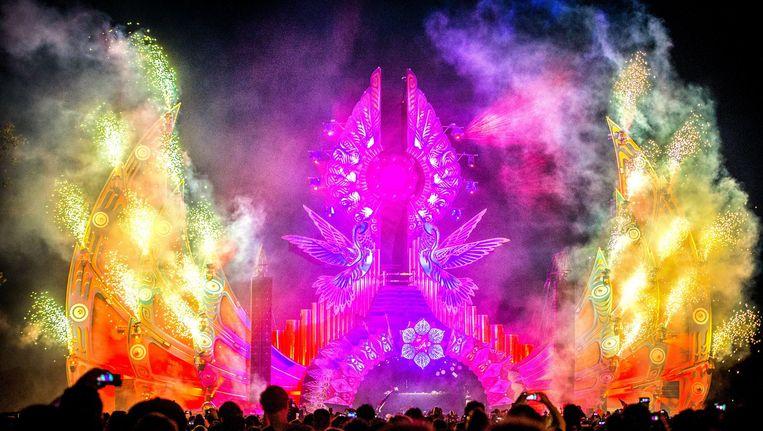 Diplo treedt op tijdens de 23e editie van het dancefestival Mysteryland. Beeld anp