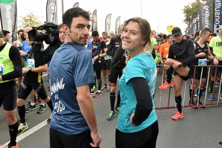 Pieter Bracke en Nathalie Fournier uit Wetteren liepen ten voordele van het UZ.