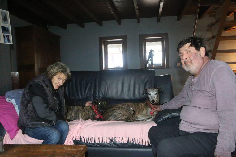 Marianne en Hugo zijn samen met hun honden weer thuis, al is er voorlopig geen verwarming