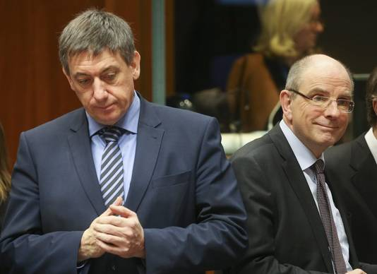 Minister Jan Jambon (links) en minister Koen Geens.