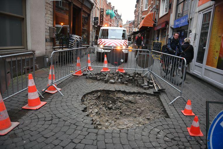 Zinkgat in de Parijsstraat in Leuven.