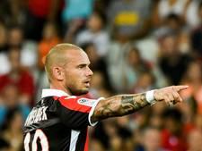 Sneijder voelt zich goed: 'Ik heb nog wel wat tijd nodig'