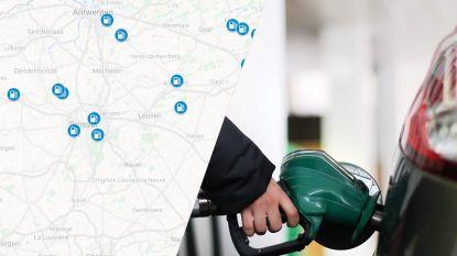 IN KAART. Na de historisch hoge dieselprijs: hier kan je het goedkoopst tanken in jouw regio