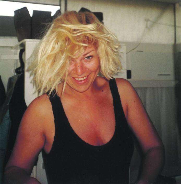 Liebeke Peters tijdens hun eerste vakantie in Huelva (Spanje), zomer 1995.