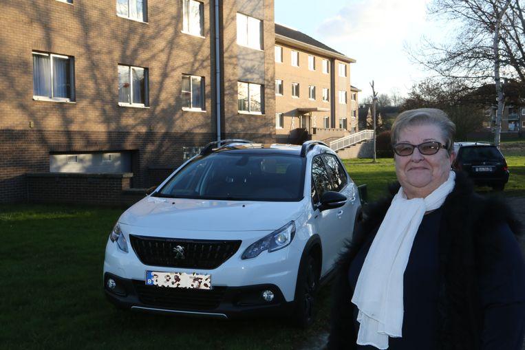Maria Gijbels kreeg een nieuwe auto dankzij de verzekering.