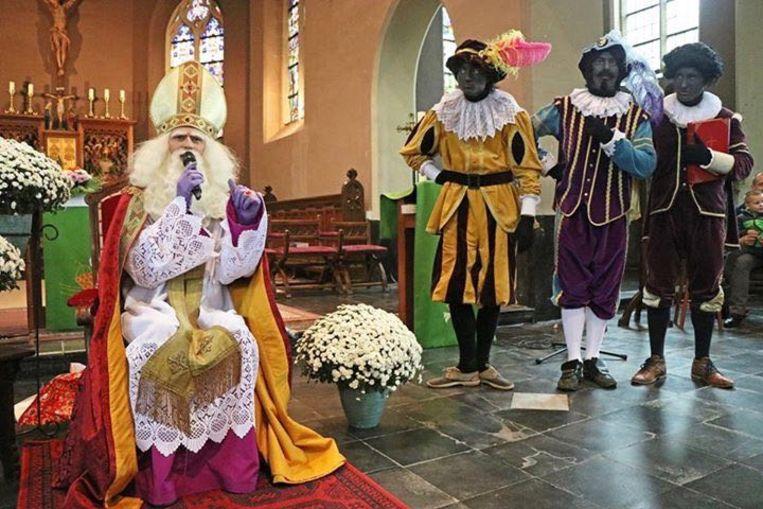 Sint-Maarten te gast in de Sint-Martinuskerk.