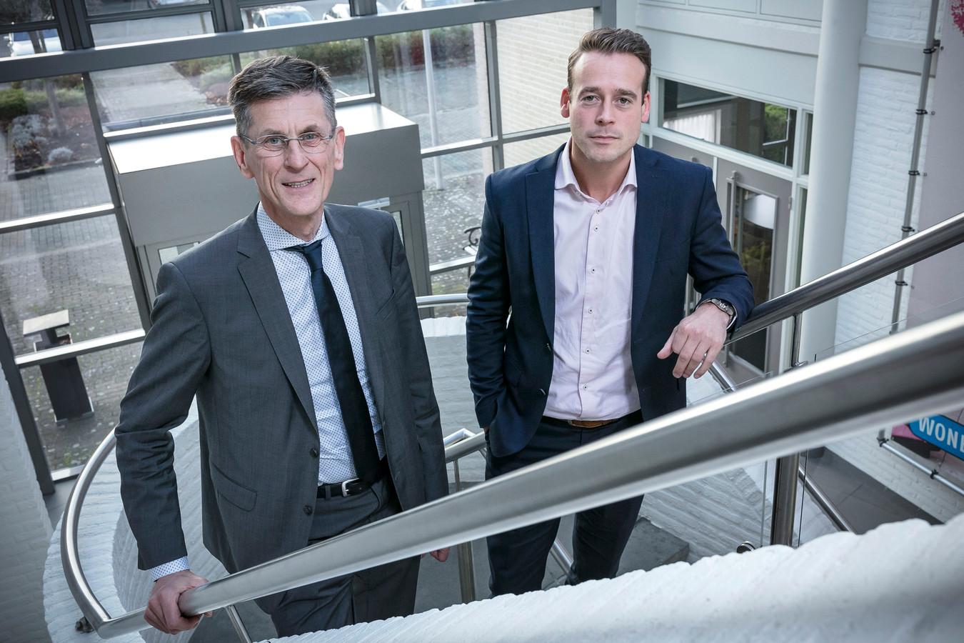 Leo Overmars (links) en Mark Wonders.