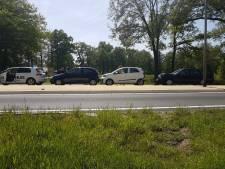 Ongeluk met meerdere auto's in Ambt Delden