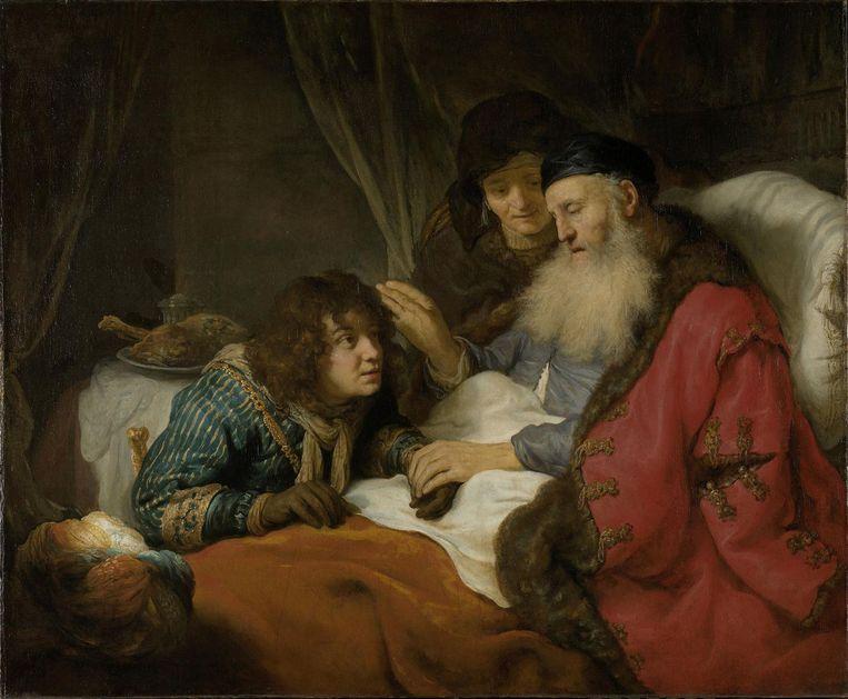 Govert Flinck, Isaac zegent Jacob, ca. 1642. Doek, 117 x 141 cm. Amsterdam, Rijkmuseum. Beeld Rijksmuseum