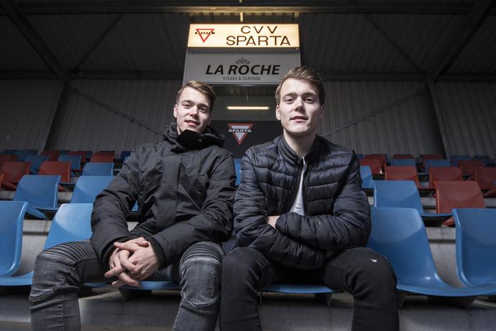 Davide (links) en Matteo Poledda van Sparta Enschede.