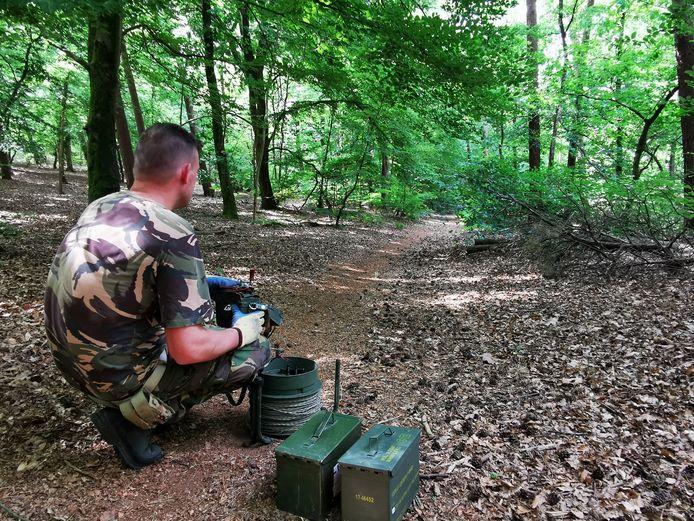 In het Bergherbos bij 's-Heerenberg is een bom uit de Tweede Wereldoorlog gevonden.
