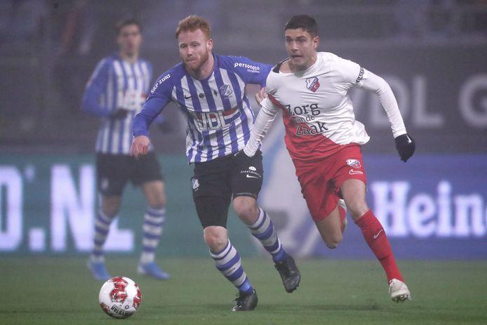 FC Eindhoven had zijn handen vol aan Kristoffer Peterson.