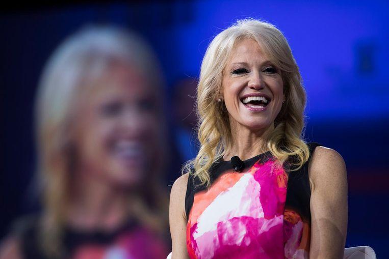 Trumps woordvoerder Kelly-Anne Conway is aangewezen om de problemen met OxyContin op te lossen Beeld epa