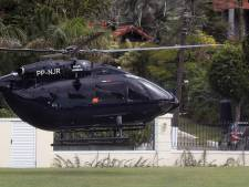 Neymar est arrivé au Brésil à bord d'un hélicoptère à son nom