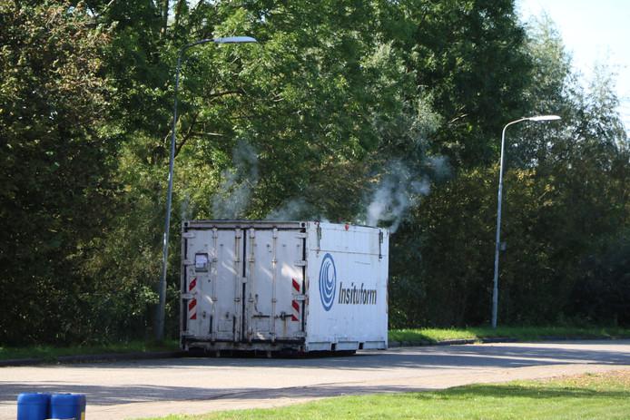 De rokende container in Ede.