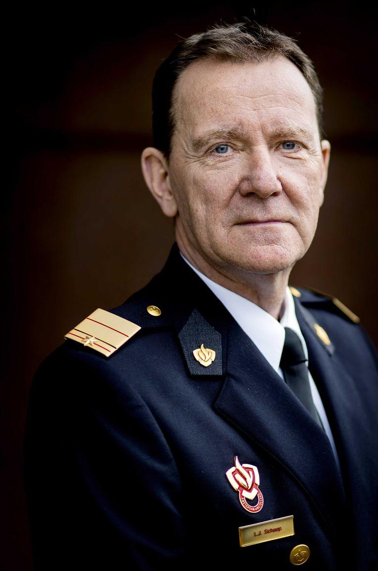 Brandweercommandant Leen Schaap. Beeld ANP