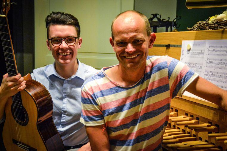 Cedric Honings (links) en Jan Verheyen