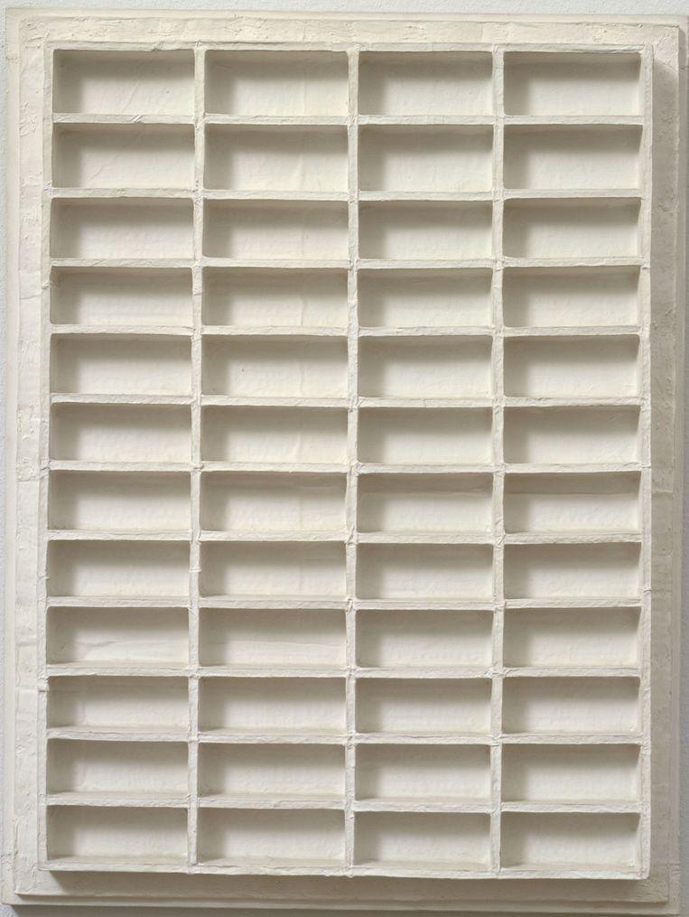 Gezicht op Naarden door Jan Schoonhoven (1962). Beeld Collectie Stedelijk¿Museum Amsterdam