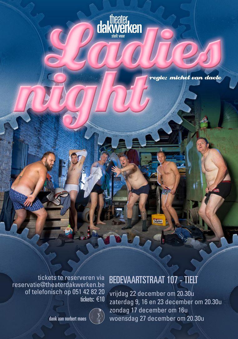 Met de voorstelling 'Ladies Night' gaat het theatergezelschap 'The Full Monty' achterna.