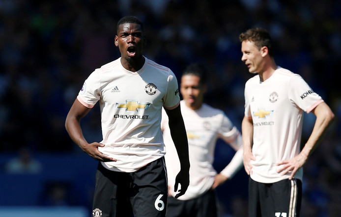 Teleurstelling bij de spelers van United.