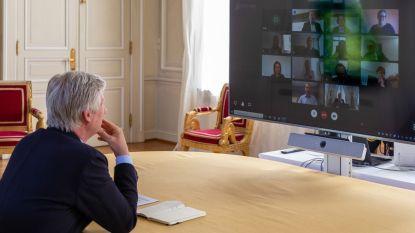 """Koning Filip videochat met vertegenwoordigers Neteland: """"Hij wou alles weten over ons samenwerkingsverband"""""""