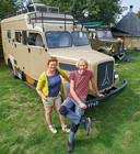 Marja en Victor Roozen met hun Magirus Deutz Camper op hun camping Bij RooZen in Vorstenbosch.