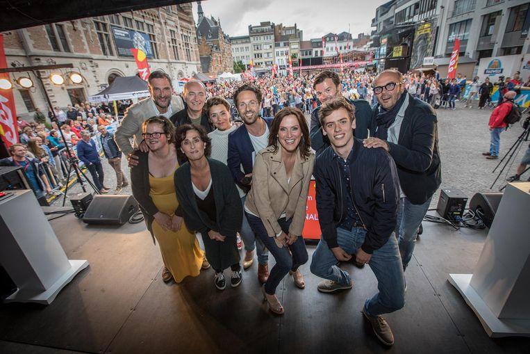 Peter Van De Velde, Daan Hugaert, Monika Van Lierde, Leen Dendievel, Christophe Haddad, Kadèr Gürbüz, Geert Hunaerts en Bart Van Avermaet.