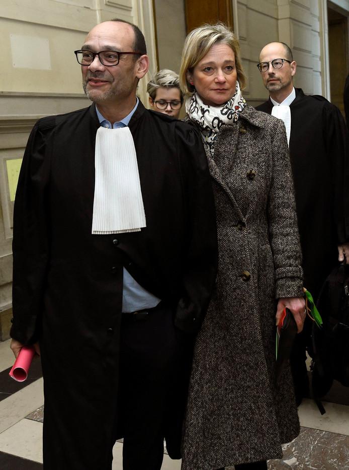 Marc Uyttendaele et Delphine Boël.