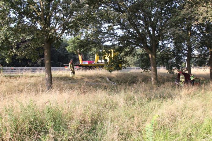 Het ongeluk vond plaats op de A1, ter hoogte van Deventer.