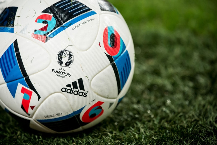 De bal waarmee gespeeld wordt tijdens het EK 2016 in Frankrijk.
