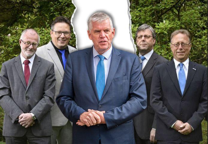 Burgemeester André Baars (m.) van Ermelo ligt overhoop met zijn wethouders.