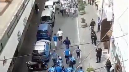 Italiaanse fans stormen in straten van Turijn op elkaar af, maar wat volgt is écht ongezien