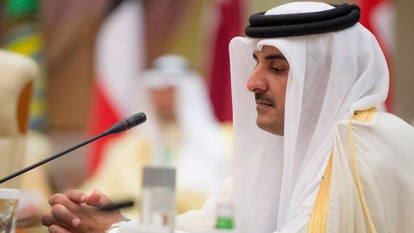 De Qatarese sjeik Tamim bin Hamad al-Thani