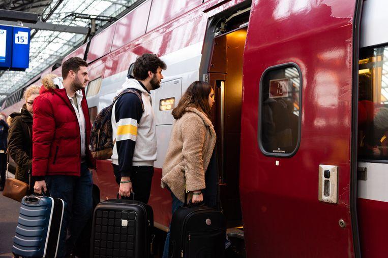 Het aantal internationale treinreizen naar Londen, Berlijn, Parijs en Brussel groeit sterk.  Beeld Katja Poelwijk
